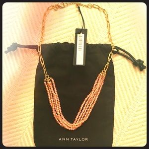 NWT Ann Taylor Chain and Bead Strand Necklace
